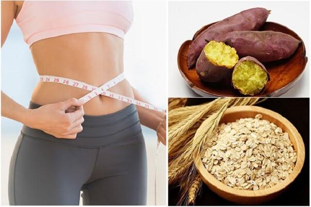 Sinh tố khoai lang yến mạch giúp giảm cân