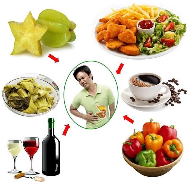Một số thực phẩm người đau dạ dày không nên ăn