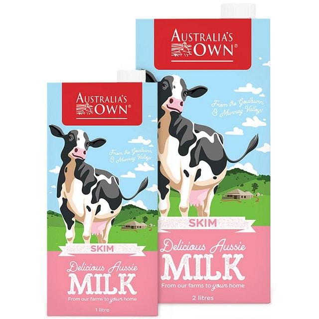 Sữa tươi tiệt trùng Australia's Own tách béo