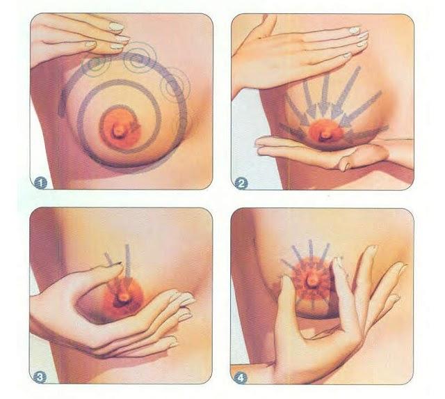 Massage ngực làm các ống dẫn sữa giãn nở, giúp sữa về nhanh và nhiều