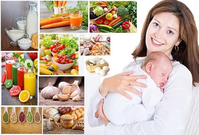 Chế độ dinh dưỡng ảnh hưởng rất lớn đến chất và lượng sữa mẹ