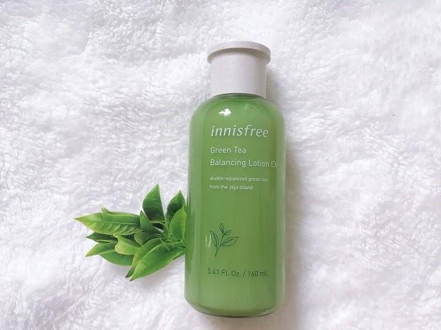 Sữa dưỡng ẩm Innisfree Green Tea Balancing Lotion EX dành cho da dầu