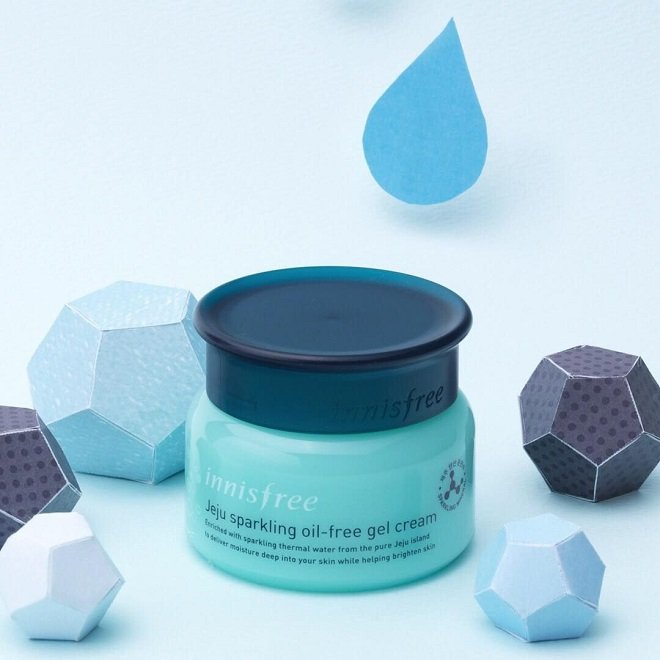 Kem dưỡng ẩm Innisfree Jeju Sparkling Oil-free Gel Cream