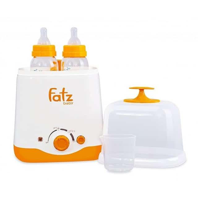 Dòng máy hâm sữa Fatzbaby FB3012SL có thể chứa được hai bình một lúc