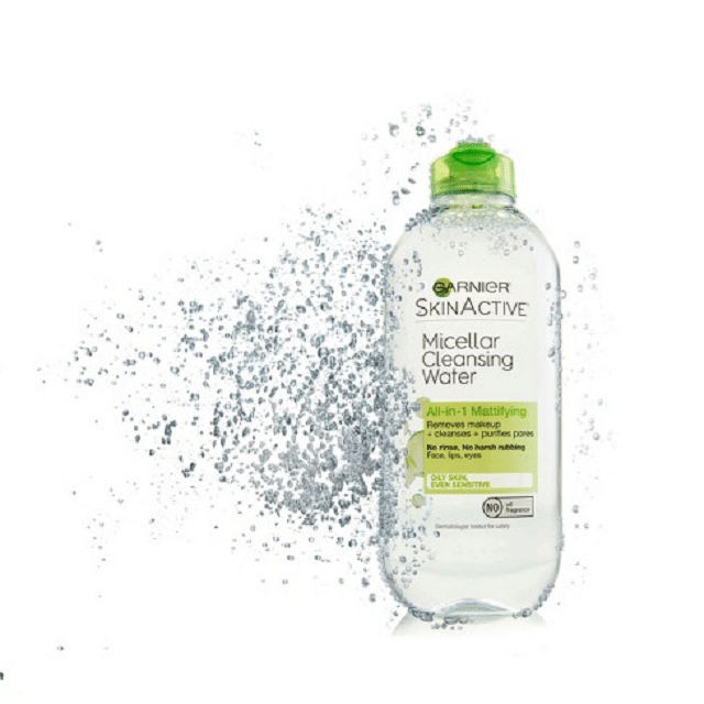 Garnier Skin Active Micellar Cleansing Water All-in-1 nắp xanh lá.