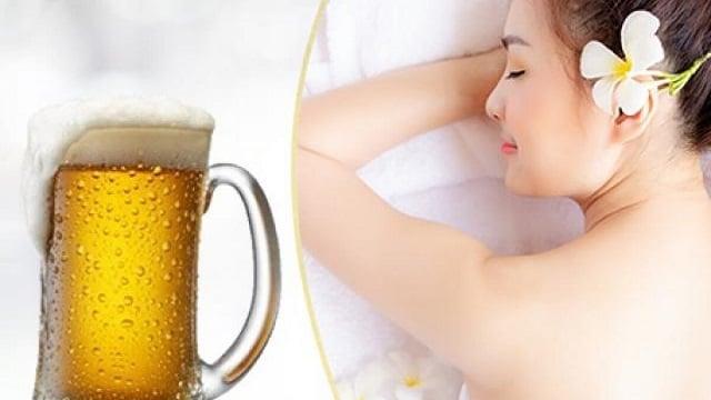 Tắm trắng bằng bia tại nhà hiệu quả