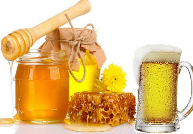 Tắm trắng bằng bia với mật ong
