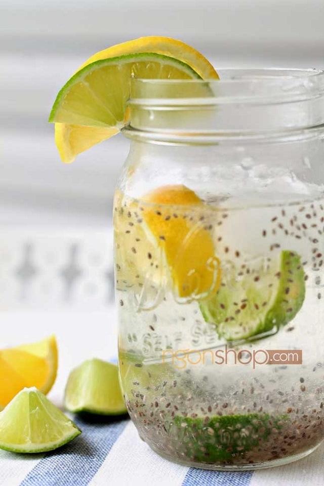 Giảm cân nặng bằng nước chanh kết hợp với hạt chia