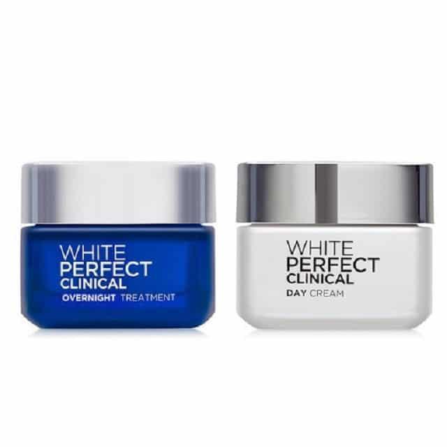 Bộ sản phẩm dưỡng trắng da mặt White Perfect Clinical của L'Oreal cung cấp giải pháp dưỡng trắng da toàn diện cả đêm lẫn ngày