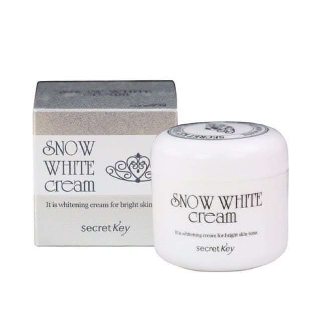 Snow White Milky Cream là sản phẩm kem dưỡng trắng da mặt của thương hiệu Secret Key, Hàn Quốc.