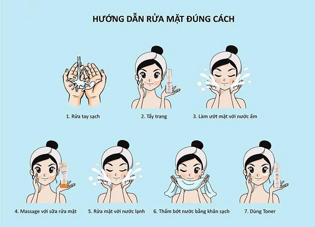 Hướng dẫn rửa mặt đúng cách