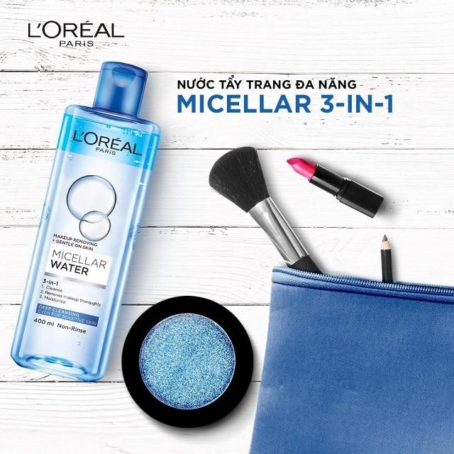 Nước tẩy trang L'Oreal Micellar Water 3-in-1 Deep Cleansing sử dụng công nghệ Micellar Water