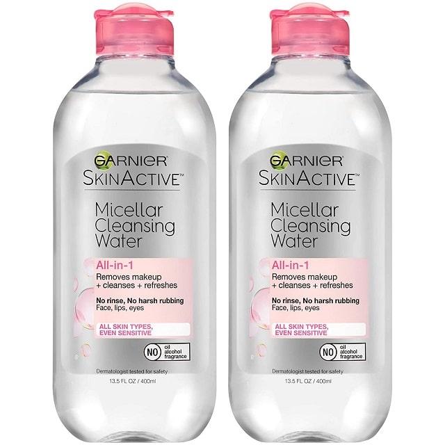 Garnier SkinActive Micellar Cleansing Water All-in-1 là dòng tẩy trang không cồn có thể dùng cho cả mặt, mắt và môi