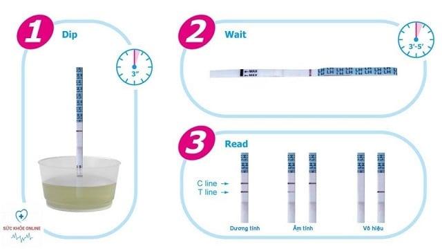 Que thử này có cơ chế hoạt động gần giống với que thử thai, hoạt động dựa trên nồng độ hormone LH có trong nước tiểu.